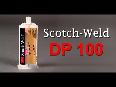 Pruebas del adhesivo DP-100 co vidrio y acrílico video