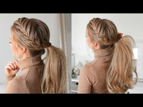 New hairstyle - Fishtail French Braid Ponytail  Missy Sue