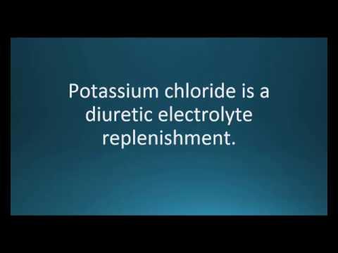 How to pronounce potassium chloride (K-DUR) (Memorizing Pharmacology Flashcard)
