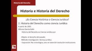 Umh1193sp 2013-14 Bloque 1.1.1 Historia E Historia Del Derecho