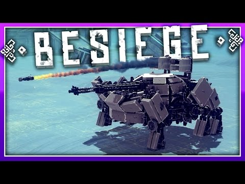 Besiege Creations :: Walking Artilary, Vortex Jet, & Car Derby :: Besiege Highlights Gameplay (видео)