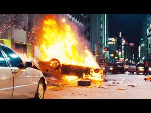 FAST and FURIOUS: TOKYO DRIFT - City Chase / Han Dies (RX7 & EvoX vs 350Z & 350Z) #1080HD