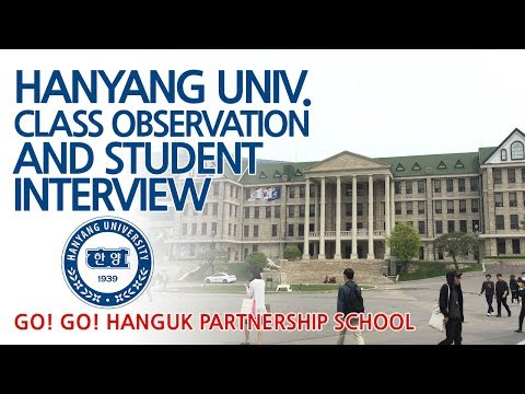 Hanyang Uni. Korean Class Observation & Campus Tour - Go! Go! Hanguk Live Show
