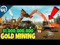 BUILDING $1,000,000,000 GOLD MINE & HEAVY EQUIPMENT | Gold Rush: The Game First Look Gameplay
