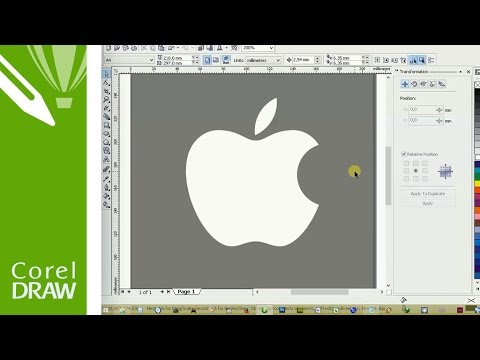 How To Make Apple Logo In CorelDRAW