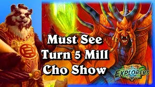 Must See Turn 5 Mill ~Hearthstone Heroes of Warcraft The League of Explorers Video