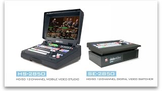 【Official】「HS-2850」and「SE-2850」HDSD 812 Channel Mobile Studio Switcher
