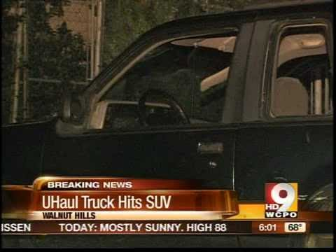 haul truck crash - 1 injured after U-Haul truck crashes with SUV.
