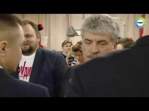 Грудинин и машина из кортежа Путина.