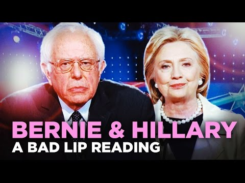 A Bad Lip Reading of Bernie Sanders and Hillary
