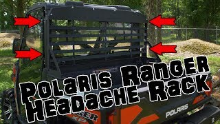 10. SuperATV Headache Rack for Polaris Ranger Fullsize