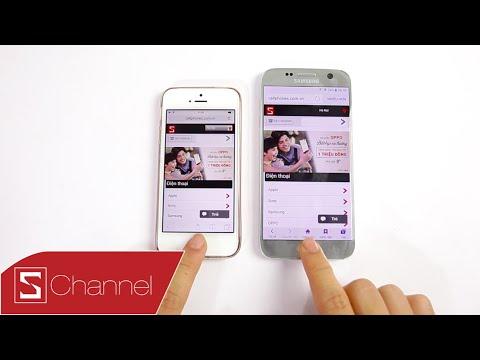 , title : 'Schannel - Speedtest Galaxy S7 vs iPhone SE : Châu chấu liệu có đá được voi !!!!'