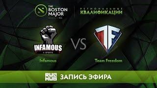 Infamous vs Team Freedom, Boston Major Qualifiers - America [Mila]