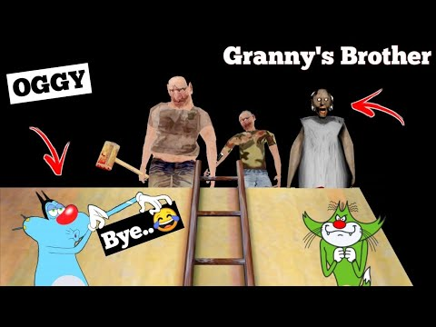 Granny's Brothers | The Twins Horror Game Roof Escape With Oggy and Jack