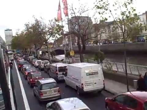 Dublin, Ireland, Double-Decker Bus Tour at Rush Hour