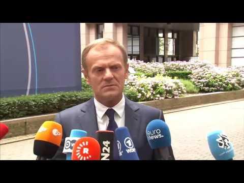 Δηλώσεις Ντ. Τουσκ κατά την άφιξή του  στη Σύνοδο Κορυφής