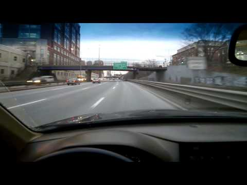 Now Entering Boston, with Google Glass (Mass Pike Eastbound)