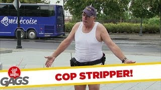 Most Sexy Stripping Cop Prank