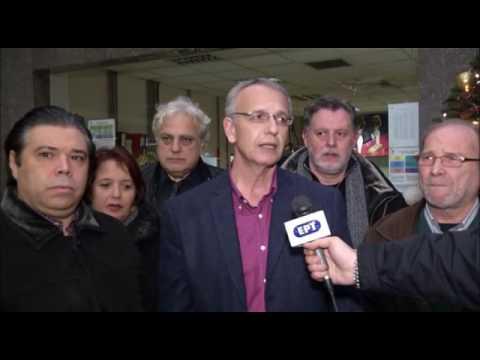 Δηλώσεις του Π. Ρήγα από το σταθμό του μετρό στο Σύνταγμα