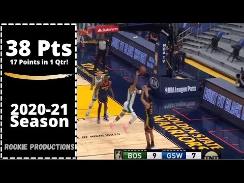 Stephen Curry FULL Highlights vs Boston Celtics | 38 Pts, 11 Rebs | 2020-21 NBA season