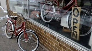Ashland (WI) United States  City new picture : Red Bicycle in Ashland Wisconsin