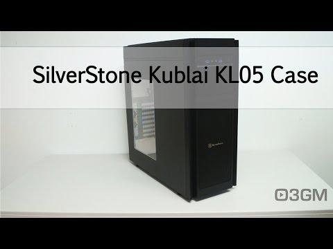 SilverStone Kublai KL05B-W High Quality ATX Tower Case (Black)