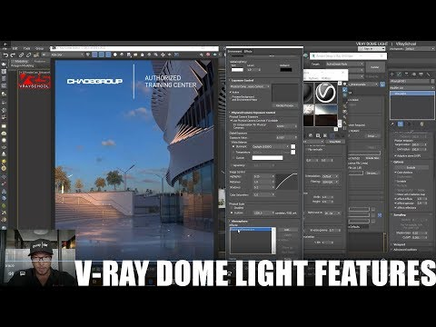 VRay Dome Light for EXTERIOR with HDRI - IBL Mehtod