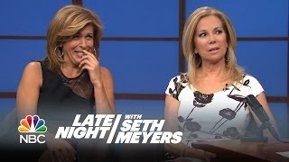 Video Intervention: Kathie Lee and Hoda - Late Night with Seth Meyers MP3, 3GP, MP4, WEBM, AVI, FLV Maret 2019