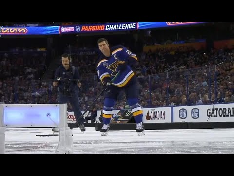 Video: Alex Pietrangelo wins the passing challenge at 2018 NHL Skills Competition