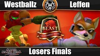 VOD: BEAST 6 – Losers Finals – Tempo | Westballz (Samus, Falco) Vs. RB TSM | Leffen (Fox)