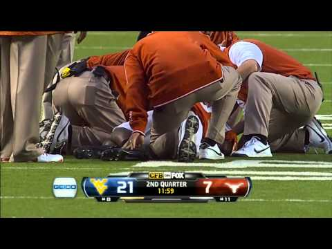 Karl Joseph big hit vs Texas 2012 video.