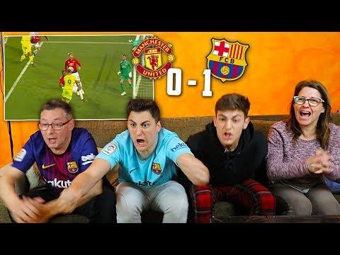 REACCIONANDO con MI FAMILIA al MANCHESTER UNITED - FC BARCELONA