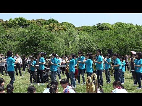 ブラスエキスポ2015 京都市立東山泉小中学校吹奏学部「残酷な天使のテーゼ」 交歓コンサート