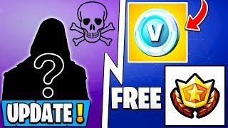 *NEW* Fortnite Update! | Free Battle Pass & Vbucks Reward, 8.40 Early, Secret Skin!
