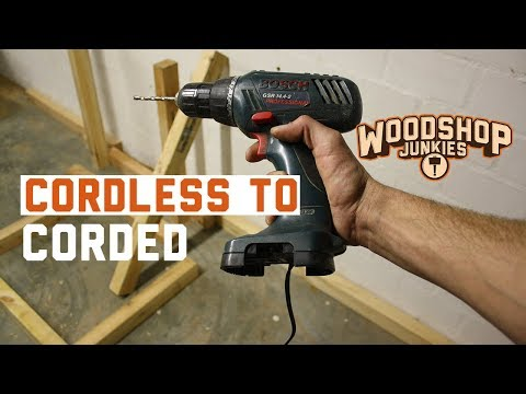 Cordless to corded drill conversion without torque loss
