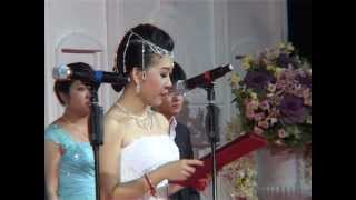 Khmer Culture - Hunsen danced with his wife in a Big Khmer Wedding in Cambodia