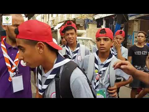 بعض المشاهد التي عاشها الوفد الفلسطيني في المخيم الكشفي العربي 32 بالجزائر.