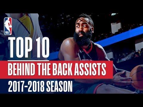 Top 10 Behind The Back Assists: 2018 NBA Season (видео)