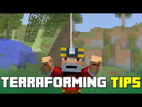 Minecraft Xbox 360/One: Basic Tips for Terraforming in Minecraft!