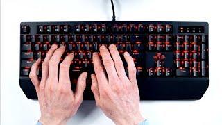 ASMR Mechanical keyboard (click! clack!)