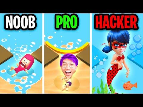 NOOB vs PRO vs HACKER In STOP THE FLOW! (ALL LEVELS!)