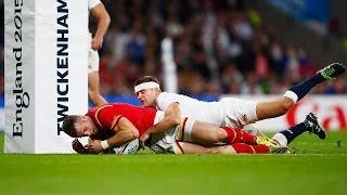 England v Wales - Match Highlights & Tries | Rugby World Cup Video - England v Wales - Match Highlig