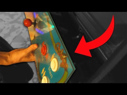 Someone broke into this arcade game..