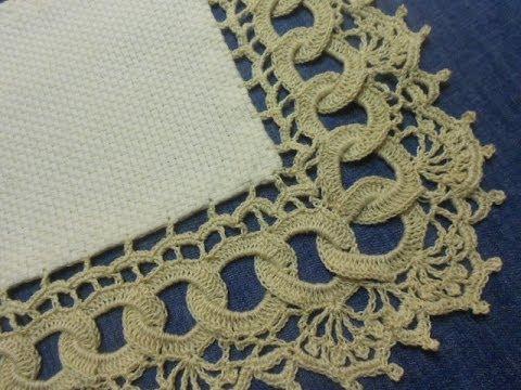 Orilla # 9 Circulos en Crochet parte 1 de 2