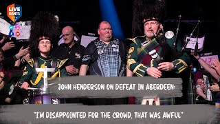 """John Henderson on defeat in Aberdeen: """"I'm disappointed for the crowd, that was awful"""""""