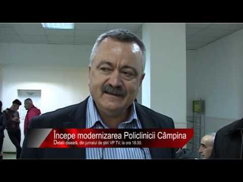 Diseară la știri VP TV: Începe modernizarea Policlinicii Câmpina