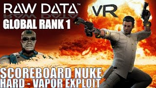 A high-skill attempt worthy of Global Rank #1 on RAW DATA, hard mode on Vapor Exploit stage in this Virtual Reality futuristic FPS from Survivos in Virtual Reality for HTC Vive and Oculus Rift!Vapour exploit features 2 lanes and creeping fog that impedes visibility over time. RageMaster dual-wields Bishops Crusader pistols through increasingly difficult phases of enemies, with commentary and information on turret layouts and gameplay strategies, and played in such a manner as to attain top score on the global cross-platform leaderboards! Good Game!