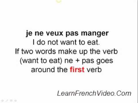 French Negative Sentences