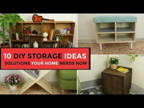 Woodworking ideas - 10 DIY Storage Ideas - Smart Solutions Your Home Needs Right Now
