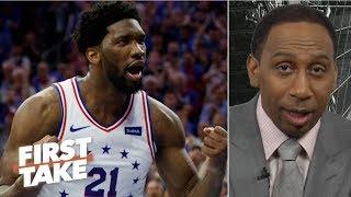 Joel Embiid punishing the Raptors down low was key to 76ers' win – Stephen A. | First Take